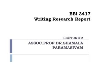 BBI 3417 Writing Research Report