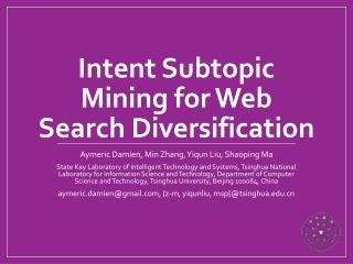 Intent Subtopic Mining for Web Search Diversification