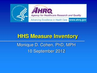 HHS Measure  Inventory