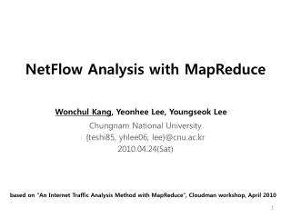 NetFlow Analysis with MapReduce