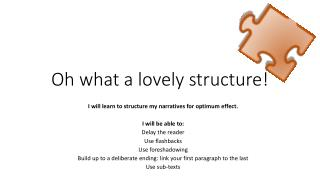 Oh what a lovely structure!