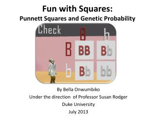 Fun with Squares:  Punnett Squares and Genetic Probability