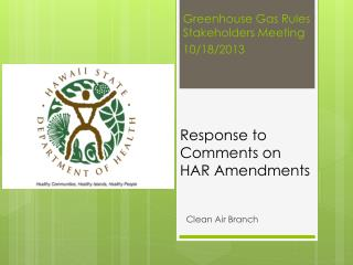 Response to Comments on HAR Amendments