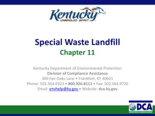 Special Waste Landfill Chapter 11