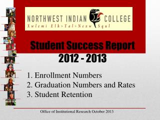Student Success Report 2012 - 2013