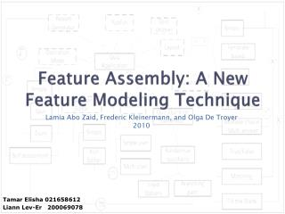 Feature Assembly: A New Feature Modeling Technique
