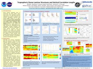 Tropospheric  Ozone Laminar Structures and Vertical Correlation Lengths