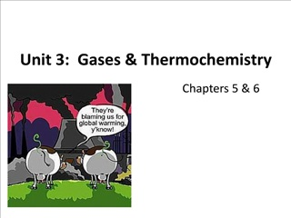 Unit 3: Gases  Thermochemistry