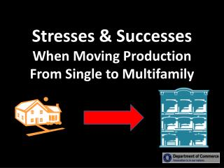 Stresses & Successes  When Moving Production From Single  to  Multifamily