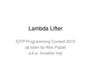 Lambda Lifter