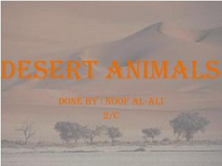 Desert animals