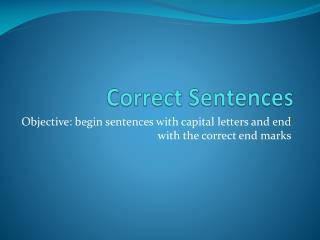 Correct Sentences