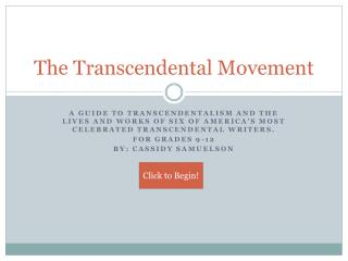 The Transcendental Movement