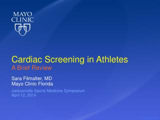 Cardiac Screening in Athletes A Brief Review