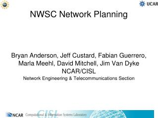 NWSC  Network Planning