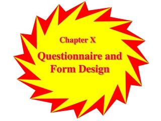 Questionnaire  Form Design Hypothesis Development