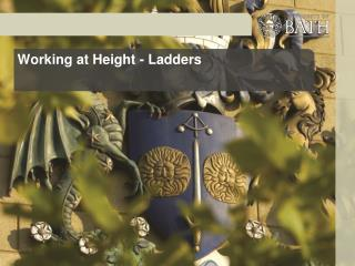 Working at Height - Ladders