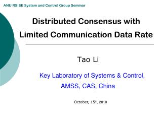 Distributed Consensus with  Limited Communication Data Rate