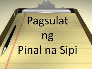 halimbawa ng pagsulat ng burador 153 pagsulat ng burador 154 pagsulat ng pinal na sipi: linggo 15 – 16 pasalitang presentasyon ng ginawang pananaliksik na.