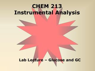 CHEM 213 Instrumental Analysis