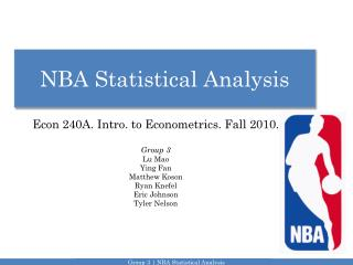 NBA Statistical Analysis