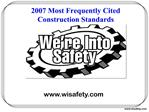 2007 Most Frequently Cited Construction Standards