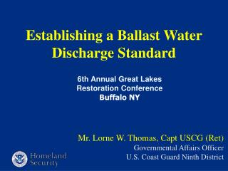 Establishing a Ballast Water Discharge Standard