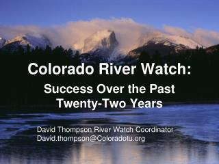 Colorado River Watch: