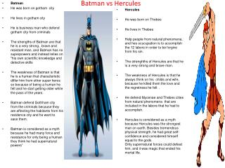 Batman vs  Hercules