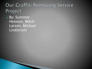 Our Graffiti Removing Service Project