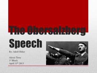 The Obersalzberg Speech