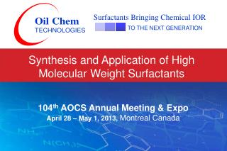 Synthesis and Application of High Molecular Weight Surfactants
