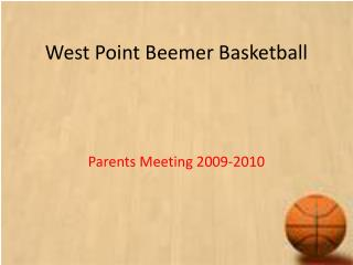 West Point Beemer Basketball