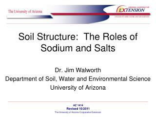 Soil Structure:  The Roles of Sodium and Salts