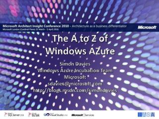 The A to Z of Windows  AZure