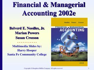 Financial & Managerial Accounting 2002e