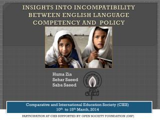 INSIGHTS INTO  INCOMPATIBILITY  BETWEEN ENGLISH LANGUAGE COMPETENCY AND  POLICY