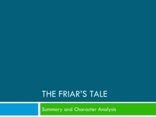 The Friar's Tale