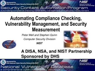 Automating Compliance Checking, Vulnerability Management, and Security Measurement
