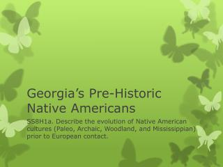 Georgia's Pre-Historic Native Americans