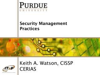 Security Management Practices