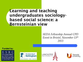 Learning and teaching undergraduates sociology-based social science: a  Bernsteinian  view