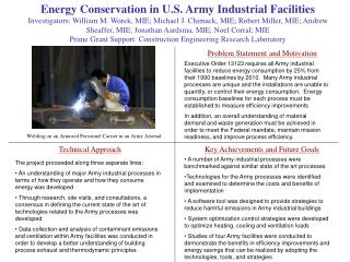 Energy Conservation in U.S. Army Industrial Facilities