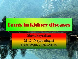 Drugs in kidney diseases