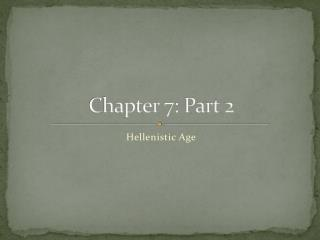 Chapter  7: Part 2