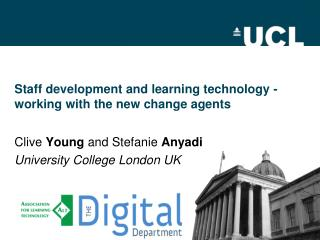Staff development and learning technology - working with the new change agents