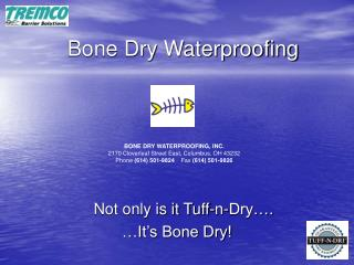 Bone Dry Waterproofing
