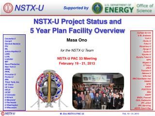 NSTX-U Project Status and  5 Year Plan Facility Overview