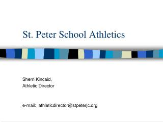 St. Peter School Athletics