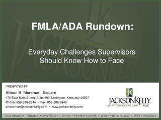 FMLA/ADA Rundown: